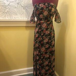 F21 | Off-the-shoulder Slit Dress